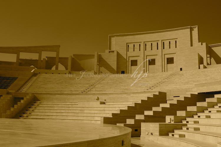 Amphitheater in Katara, the Cultural Village, West Bay, Doha, Qatar   Mar 10
