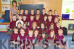 Pictured with their junior infants teacher Claire Griffin, in Fossa National School, Killarney, were Rocca Sheehan, Eddie Moroney, Peadar Kelliher, Allana Brady, Katie Prenderville, Meadhbh Bennett, Robert Brooks, Sophie Dennehy, Andrea Rennie, Grace Daly, Zara Clifford, Sophie Walsh, Charlotte O'Shea, Matthew O'Connor, Con Lenihan, Dylan O'Connor, Tom Cahillane, Charlie Keating, Darragh O'Brien, Sam Buckley, Ryan O'Leary, Harry Kelly, Cian Bennett, Conor Harty, Sean Dineen, Darren Ryan, Patrick Lyons and Phillip Ganser. ...