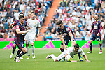 Real Madrid's Carlos Henrique Casemiro and Sociedad Deportiva Eibar's Sergi Enrich and Adrian Gonzalez during La Liga match. April 09, 2016. (ALTERPHOTOS/Borja B.Hojas)