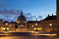 Amalienborg Royal Palace in Copenhagen, Denmark