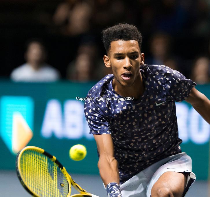 Rotterdam, The Netherlands, 16 Februari 2020, ABNAMRO World Tennis Tournament, Ahoy,<br /> Mens Single Final: Felix Auger-Alissime (CAN). <br /> Photo: www.tennisimages.com