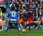 09.01.2016 Camp Nou, Barcelona, Spain. La Liga day 19 march between FC Barcelona and Granada. Rakitic takes a shot on goal