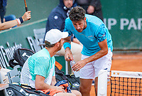 Paris, France, 01 June, 2018, Tennis, French Open, Roland Garros, Men's doubles: Matwe Middelkoop and Robin Haase (NED) (R)<br /> Photo: Henk Koster/tennisimages.com