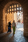 Entrance to the ancient walled city of Alcudia, Mallorca