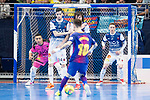Barcelona Lassa Mario Rivillos and R. Renov. Zaragoza Adrian Ortego, Fernando Modrego and Victor Tejel during Futsal Spanish Cup 2018 at Wizink Center in Madrid , Spain. March 16, 2018. (ALTERPHOTOS/Borja B.Hojas)