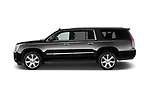 Car driver side profile view of a 2018 Cadillac Escalade ESV 2WD Luxury 5 Door SUV