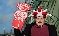 Lincoln City fans enjoy the pre-match atmosphere<br /> <br /> Photographer Chris Vaughan/CameraSport<br /> <br /> Emirates FA Cup First Round - Lincoln City v Northampton Town - Saturday 10th November 2018 - Sincil Bank - Lincoln<br />  <br /> World Copyright © 2018 CameraSport. All rights reserved. 43 Linden Ave. Countesthorpe. Leicester. England. LE8 5PG - Tel: +44 (0) 116 277 4147 - admin@camerasport.com - www.camerasport.com
