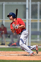 Boston Red Sox infielder Nick Natoli #12 during a minor league Spring Training game against the Baltimore Orioles at Buck O'Neil Complex on March 25, 2013 in Sarasota, Florida.  (Mike Janes/Four Seam Images)