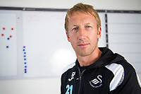 2018 08 01 Graham Potter at the Fairwood Training Ground, Wales, UK