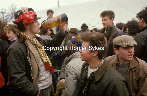 Teenagers at the Badminton Horse trials Gloucestershire Circa 1985