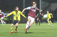 Burnley's Chris Wood battles with Burton Albion's John Brayford<br /> <br /> Photographer Mick Walker/CameraSport<br /> <br /> The Carabao Cup Round Three   - Burton Albion  v Burnley - Tuesday  25 September 2018 - Pirelli Stadium - Buron On Trent<br /> <br /> World Copyright &copy; 2018 CameraSport. All rights reserved. 43 Linden Ave. Countesthorpe. Leicester. England. LE8 5PG - Tel: +44 (0) 116 277 4147 - admin@camerasport.com - www.camerasport.com