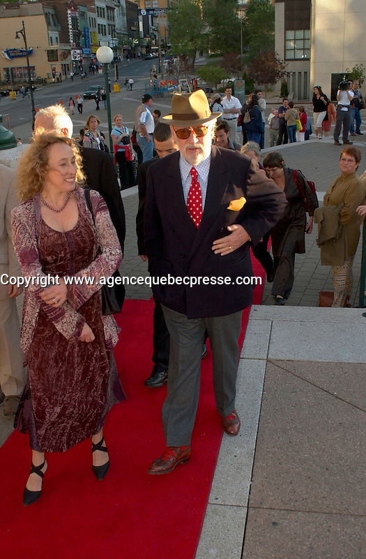sept 8,  2003, Montreal, Quebec, Canada<br /> <br /> <br /> French actor Phillipe Noiret  (R)<br /> and Marie Tifo, actress (L)<br /> at the Montreal Premiere of Michel Boujenah P&raquo;RE ET FILS, sept 8 2003<br /> <br /> <br /> Mandatory Credit: Photo by Pierre Roussel- Images Distribution. (&copy;) Copyright 2003 by Pierre Roussel <br /> <br /> All Photos are on www.photoreflect.com, filed by date and events. For private and media sales