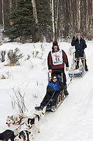 Gary McKellar w/Iditarider on Trail 2005 Iditarod Ceremonial Start near Campbell Airstrip Alaska SC