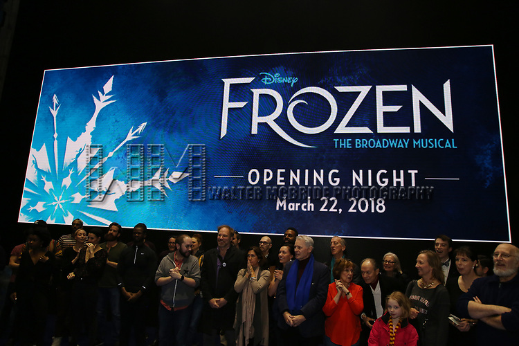 The Actors' Equity Opening Night Gypsy Robe Ceremony honoring Jeremy Davis for 'Frozen' at the St. James Theatre on March 22, 2018 in New York City.