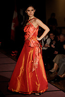 Montreal,(Qc) CANADA - March 26 2011 - SOS JAPAN - The fashion show hosted by Angelo Cadet and featuring clothes by Takaaki Kubo (Stunn Men),<br /> Dinh Ba (Dinh Ba Design), Edwin & Peter (EDNP), Jessica Simon (JSI) , Anne DeShalla. <br /> <br /> In photo : Kimonos by Anne DeShalla.