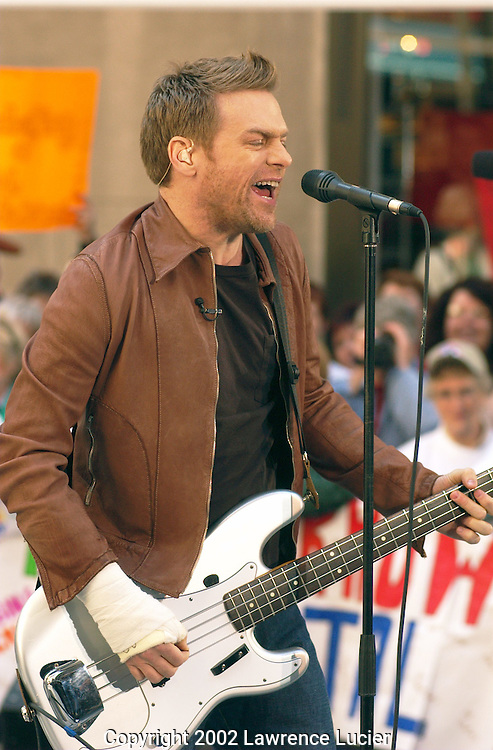 "Recording artist Bryan Adams performs at the Today Show Weekly Concert Series May 24, 2002 in Manhattan.  He has released a new album, ""Spirit: The Stallion of the Cimarron"" to accompany the motion picture of the same name."