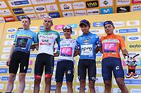 TUNJA - COLOMBIA, 11-02-2020: Líderes de las clasificaciones despuésde la segunda etapa del Tour Colombia 2.1 2020 con un recorrido de 152,4 km, que se corrió entre Paipa y Duitama, Boyacá. / Liders of the race after the second stage of 152,4 km as part of Tour Colombia 2.1 2020 that ran between Paipa and Duitama, Boyaca.  Photo: VizzorImage / Darlin Bejarano / Cont