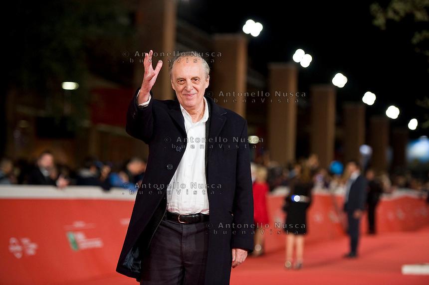 Rome, october 16, 2015. Italian director Dario Argento walks the red carpet for 'Truth' during the 10th Rome Film Fest at Auditorium Parco Della Musica.