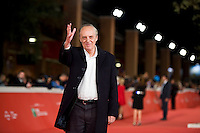 Rome, october 16, 2015. Italian director Dario Argento walks the red carpet for 'Truth' during the 10th Rome Film Fest at Auditorium Parco Della Musica.
