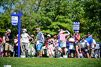 Ai Miyazato (JPN) watches her tee shot on 18 during Saturday's round 3 of the 2017 KPMG Women's PGA Championship, at Olympia Fields Country Club, Olympia Fields, Illinois. 7/1/2017.<br /> Picture: Golffile | Ken Murray<br /> <br /> <br /> All photo usage must carry mandatory copyright credit (&copy; Golffile | Ken Murray)