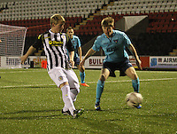 Jon Scullion in the St Mirren v Dunfermline Athletic Scottish Professional Football League Under 20 match played at the Excelsior Stadium, Airdrie on 11.12.13.