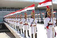 BRASÍLIA, DF 08 DE MAIO 2013 - CERIMÔNIA OFICIAL DE CHEGADA DO PRESIDENTE DO EGITO NO PALÁCIO DO PLANALTO -Cerimonia oficial para recebimento do presidente do Egito Mohamed Morsi, no Palácio do Planalto nesta manhã de quarta-feira (08). FOTO RONALDO BRANDÃO / BRAZIL PHOTO PRESS