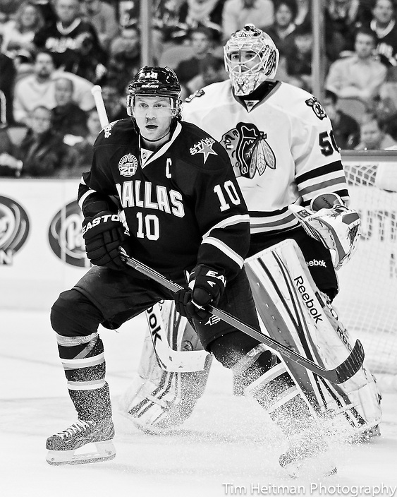 Jan 24, 2013; Dallas, TX, USA;  Chicago Blackhawks at Dallas Stars