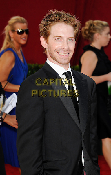 SETH GREEN.Arrivals at the 61st Primetime Emmy Awards held at Te Nokia Theater in Los Angeles, California, USA. .September 20st, 2009 .emmys half length black suit jacket stubble facial hair.CAP/ROT.©Lee Roth/Capital Pictures