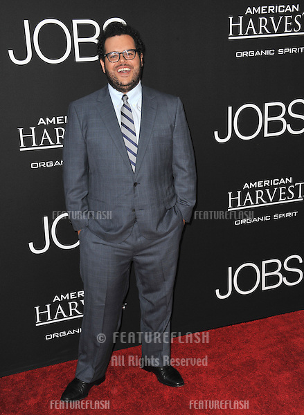 Josh Gad at the Los Angeles premiere of his movie &quot;Jobs&quot; at the Regal Cinemas LA Live.<br /> August 13, 2013  Los Angeles, CA<br /> Picture: Paul Smith / Featureflash