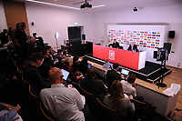 Ryan Giggs manager of Wales during the Wales Squad Announcement press conference at St Fagans in Cardiff, Wales, UK. Thursday 04 October 2018
