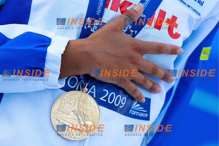 Roma 28th July 2009 - 13th Fina World Championships ..From 17th to 2nd August 2009..1500 m Freestyle..Alessia Filippi ITA Gold Medal and New W.R...photo: Roma2009.com/InsideFoto/SeaSee.com