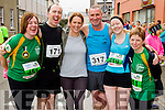 Mary Ross, Richard Deane, Bridget Moore, Pat Sheehy, Frances Quinn and Caroline Harrington at the start of the Kerry's Eye Tralee, Tralee Half Marathon on Saturday.