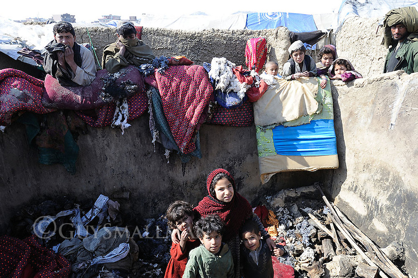 Refugees from Helmand in the Qargha (Assiana) camp in Kabul. They were mostly from the Sangin district of Helmand province.