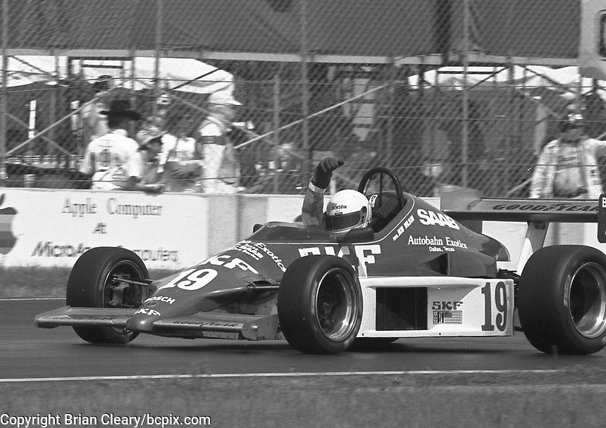 Rob Wilson drives in a Barber Saab race before  the IMSA GTP/Lights race at the Florida State Fairgrounds in Tampa, FL, October 1, 1989. (Photo by Brian Cleary/www.bcpix.com)