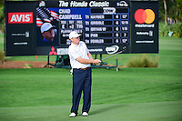 Chad Campbell (USA) watches his chip on to 9 during round 2 of the Honda Classic, PGA National, Palm Beach Gardens, West Palm Beach, Florida, USA. 2/24/2017.<br /> Picture: Golffile | Ken Murray<br /> <br /> <br /> All photo usage must carry mandatory copyright credit (&copy; Golffile | Ken Murray)