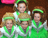 13-4-2014: Alannah McGurk, Rhiana Mullen, Shauna McKenna and Caitlyn McDermott from West Tyrone pictured at the World Irish Dancing Championships in Killarney at the weekend.<br /> Picture by Don MacMonagle