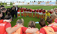 20190304 - LARNACA , CYPRUS : Austrian team pictured during a women's soccer game between Slovakia and Austria , on Monday 4 th March 2019 at the GSZ Stadium in Larnaca , Cyprus . This is the third and last game in group C for both teams during the Cyprus Womens Cup 2019 , a prestigious women soccer tournament as a preparation on the Uefa Women's Euro 2021 qualification duels. PHOTO SPORTPIX.BE | DAVID CATRY