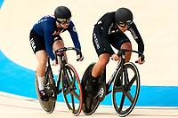 Picture by Alex Whitehead/SWpix.com - 09/12/2017 - Cycling - UCI Track Cycling World Cup Santiago - Velódromo de Peñalolén, Santiago, Chile - New Zealand's Natasha Hansen defeats USA's Madalyn Godby in the Women's Sprint quarter-finals.