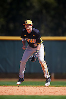 Iowa Hawkeyes shortstop Nick Roscetti (3) during a game against the Dartmouth Big Green on February 27, 2016 at South Charlotte Regional Park in Punta Gorda, Florida.  Iowa defeated Dartmouth 4-1.  (Mike Janes/Four Seam Images)
