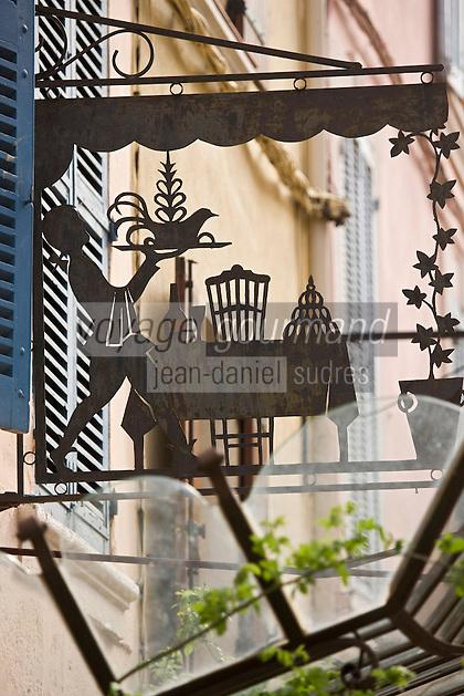 Europe/France/Provence-Alpes-Côte d'Azur/83/Var/La Cadière d'Azur: Enseigne de l'Hostellerie Bérard