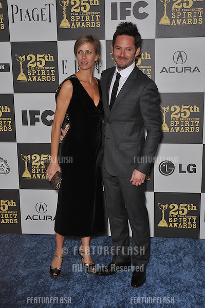 Scott Cooper & wife at the 25th Anniversary Film Independent Spirit Awards at the L.A. Live Event Deck in downtown Los Angeles..March 5, 2010  Los Angeles, CA.Picture: Paul Smith / Featureflash