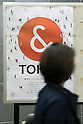 A woman walks past a ''& TOKYO'' poster displayed in Shinjuku subway station on October 16, 2015, Tokyo, Japan. Tokyo Metropolitan Government launched a new logo as a part of the Tokyo Brand Promotion Campaign with the aim of making the city the principal tourist destination in the world ahead of the Tokyo Olympic and Paralympic games in 2020. (Photo by Rodrigo Reyes Marin/AFLO)