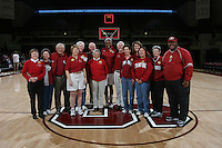 STANFORD, CA - FEBRUARY 1:  Nnemkadi Ogwumike of the Stanford Cardinal with her locker sponsors during Stanford's 68-51 win over the UCLA Bruins on February 1, 2009 at Maples Pavilion in Stanford, California.