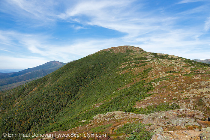 Mount Franklin, named after Benjamin Franklin, from along the Crawford Path (Appalachian Trail) in Sargent's Purchase in the New Hampshire White Mountains during the last days of summer; this area is part of the Southern Presidential Range.
