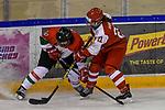 03.01.2020, BLZ Arena, Füssen / Fuessen, GER, IIHF Ice Hockey U18 Women's World Championship DIV I Group A, <br /> Daenemark (DEN) vs Ungarn (HUN), <br /> im Bild Orsolya Jozsa (HUN, #10), Laura Rydahl (DEN, #21)<br /> <br /> Foto © nordphoto / Hafner