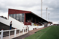 The main stand at Arbroath FC Football Ground, Gayfield Park, Arbroath, Angus, Scotland, pictured on 25th July 1999