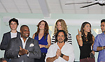 Eddie Alderson, Melissa Archer, Susan Haskell, Lindsey Morgan and Erik Valdez and front Sean Ringgold and Thorsten Kaye at SoapFest's Celebrity Weekend -  A Night of Stars - a VIP event with dinner, autographs, photos, silent and live auction on November 10, 2012 at Bistro Soleil at Old Historic Marco Inn (Photo by Sue Coflin/Max Photos)