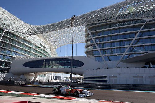 11.11.2011 Abu Dhabi, United Arab Emirates. Yas Marina Circuit, Adrian Sutil, Team Force India, .., during the practice day of the FIA Formula One Grand Prix of Abu Dhabi UAE.
