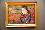 'Seated Young Woman' 1892 oil painting on canvas by Edvard Munch 1863-1944, Kode 3 art gallery Bergen, Norway