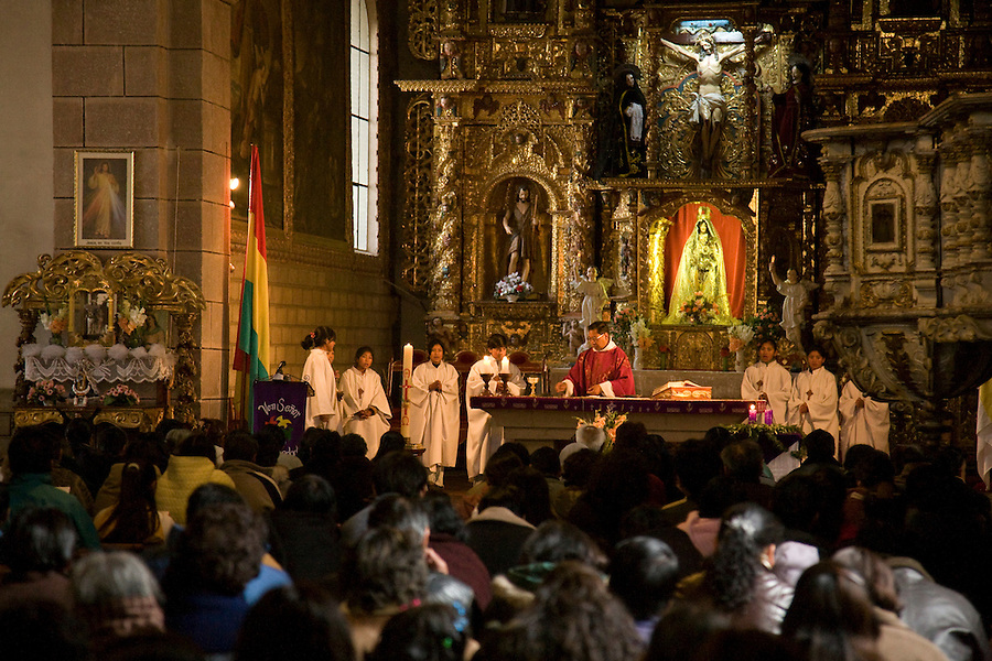 Sunday mass in Potosí.